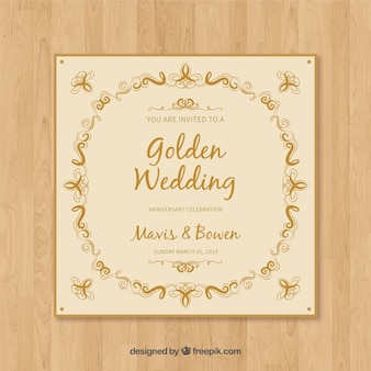 Wedding anniversary card invitation
