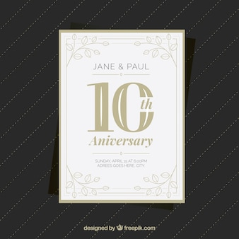 Wedding anniversary card with ornaments