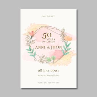 Carta di anniversario di matrimonio
