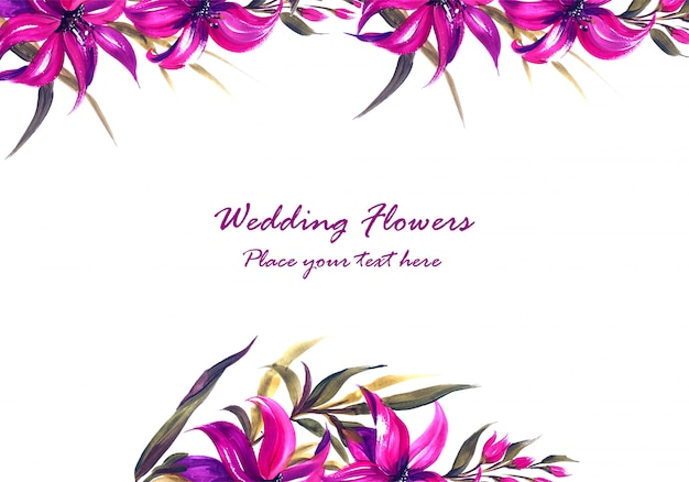 인사말 카드 결혼 기념일 장식 꽃 프레임
