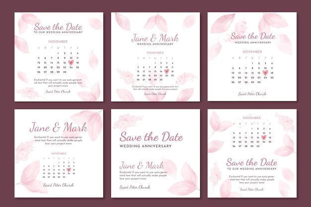 Коллекция постов в instagram на годовщину свадьбы