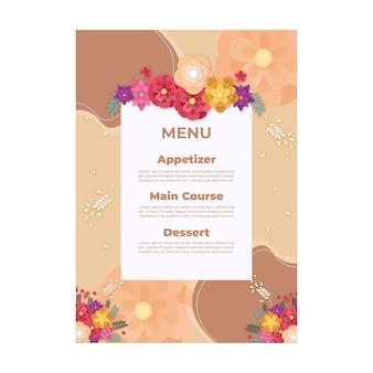 Wedding anniversary menu