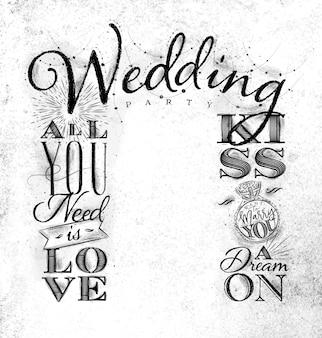 Wedding arch backdrop kiss white