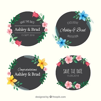 Коллекция свадебных значков