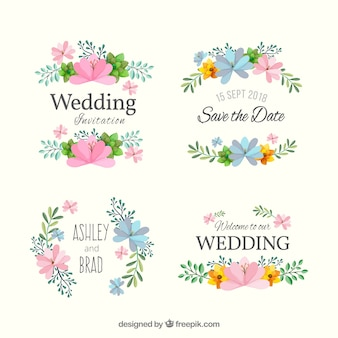 Wedding badge collection