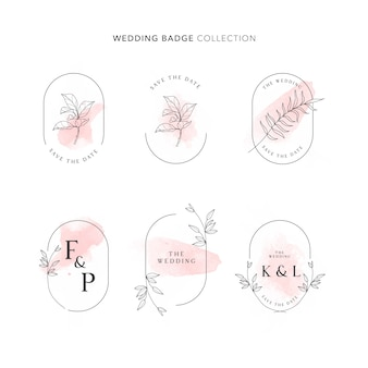 Wedding badge collection