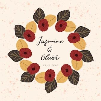 Свадебный значок с осени цветочные кадр
