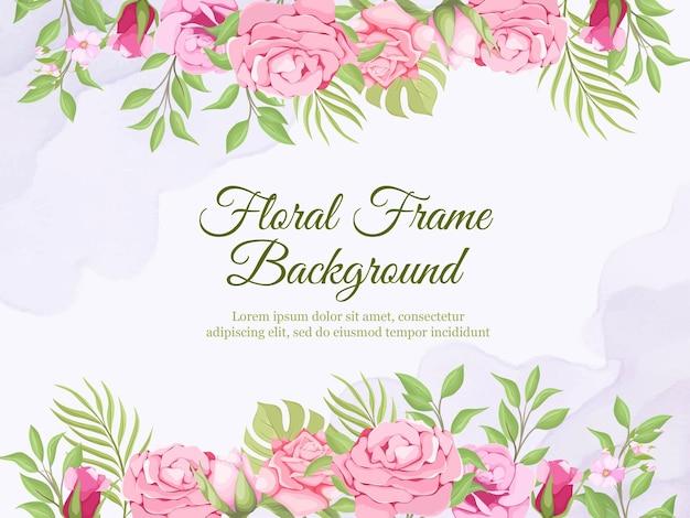 結婚式のバナーの背景夏の花柄のデザイン