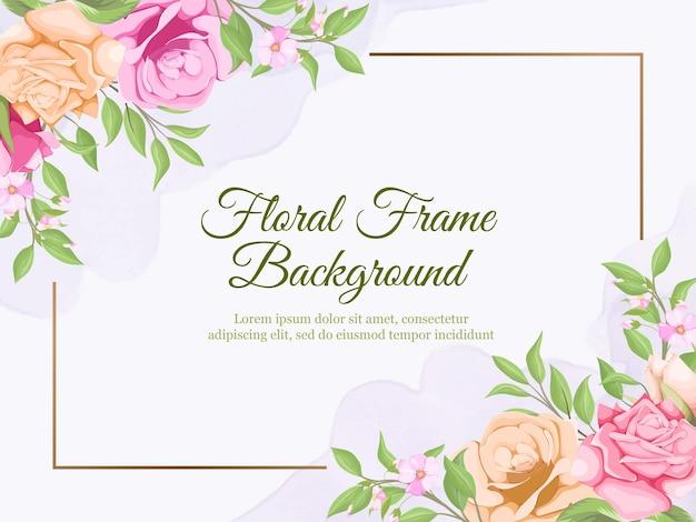 結婚式のバナー夏花ベクトルテンプレートデザイン