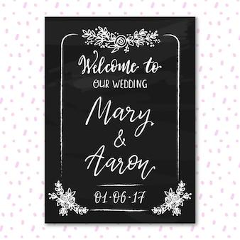 Wedding blackboard design