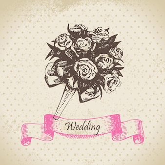 Свадебный букет. рисованной иллюстрации