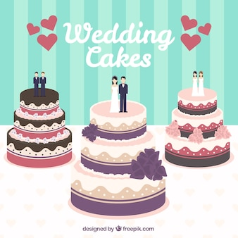 Wedding cakes illustration