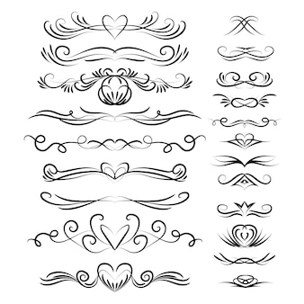 Wedding calligraphic ornament collection