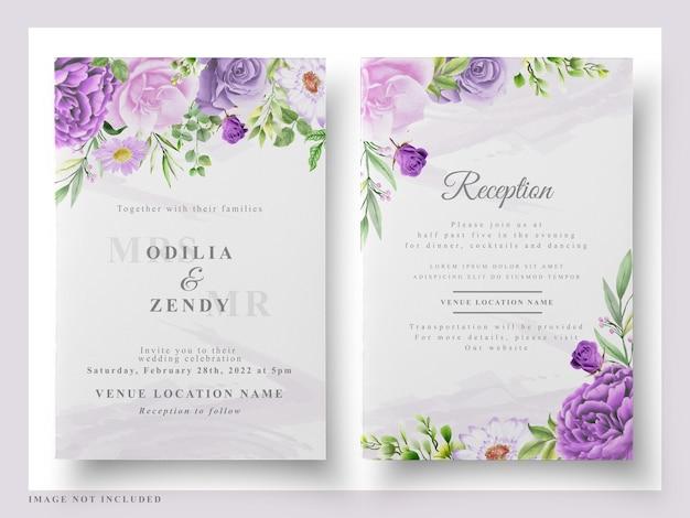 Свадебная открытка цветочная акварель
