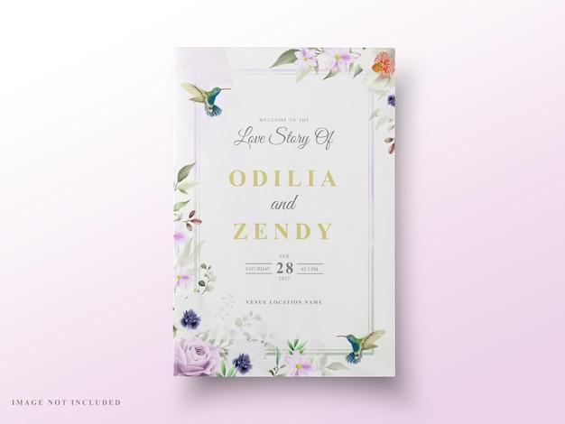 Wedding card   greenery floral design