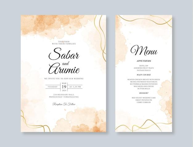 結婚式のカードの招待状のテンプレート