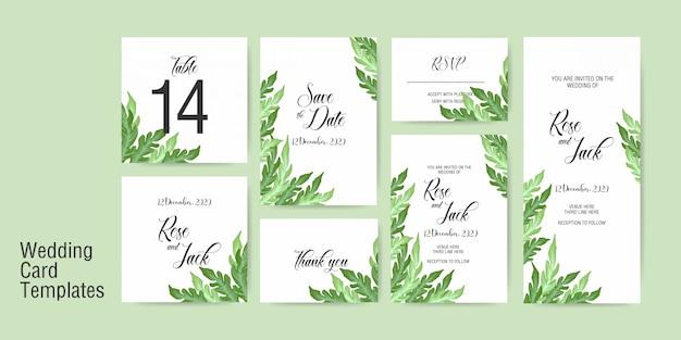 Wedding card invitation template