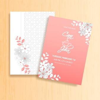 ウェディングカードの招待状。