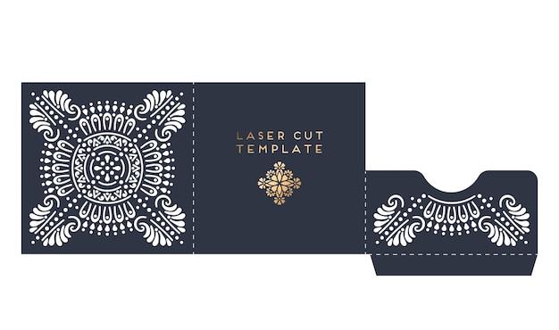 Шаблон лазерной резки свадебной открытки