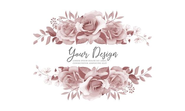 美しい花のウェディングカード飾り