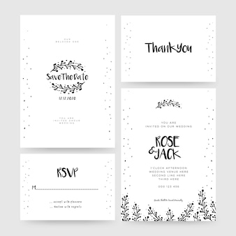 Wedding card, save the date