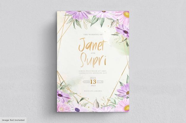 Свадебный набор открыток с нежным цветком хризантемы