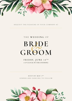 Wedding card template design
