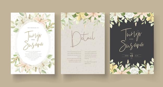 웨딩 카드 템플릿 꽃 디자인