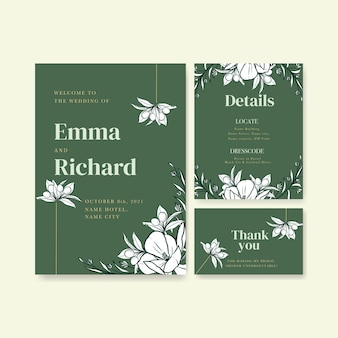 Wedding card template for invitation and marriage