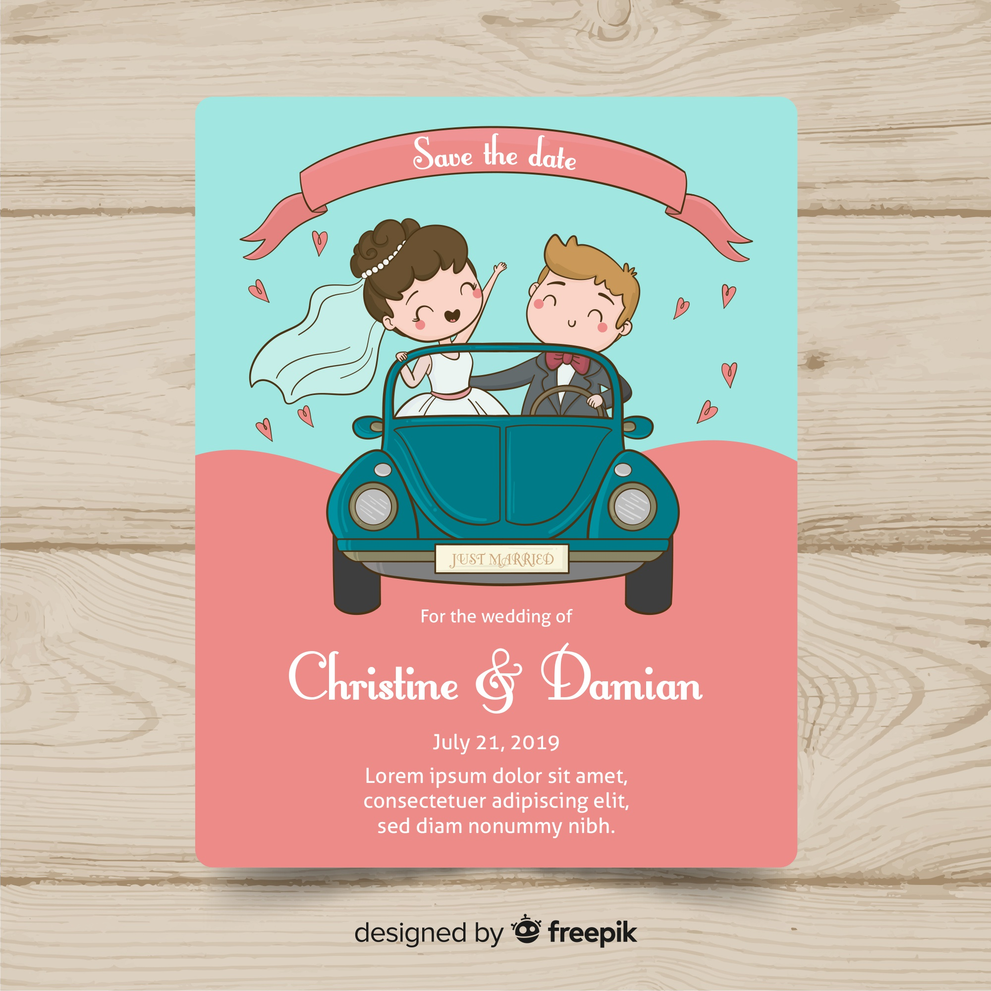 Wedding card template
