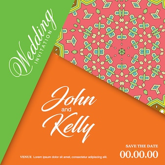 Wedding cards design vector