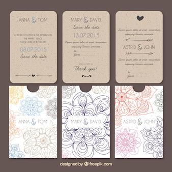 大ざっぱな花とウエディングカード