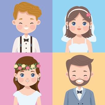 Свадебные персонажи