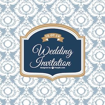 Wedding classic design invitation card
