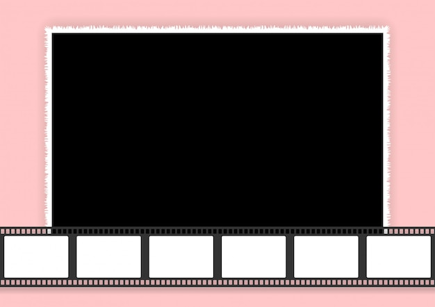 Wedding collage template for photo frames and films