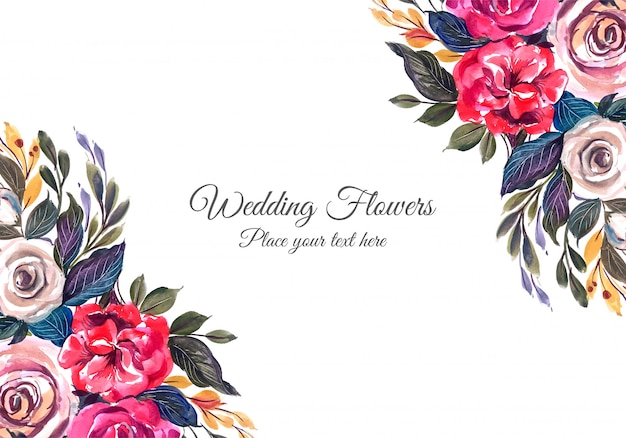 Wedding colorful flowers frame