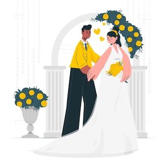 Illustrazione del concetto di matrimonio