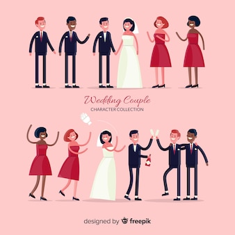 Wedding couple character collection
