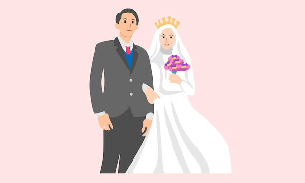 婚約または結婚のための結婚式のカップル