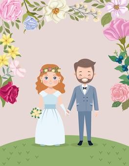 Wedding couple lovers