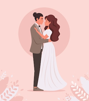 Свадебная пара молодожены свадебный портрет