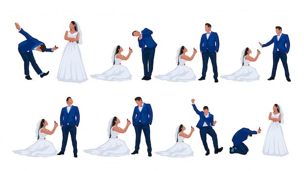 結婚式のカップルセット