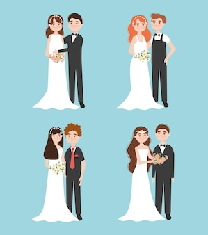 Набор свадебных пар