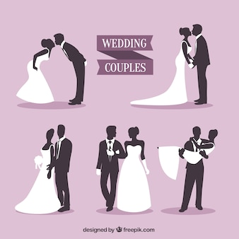Wedding Couples Silhouettes Pack