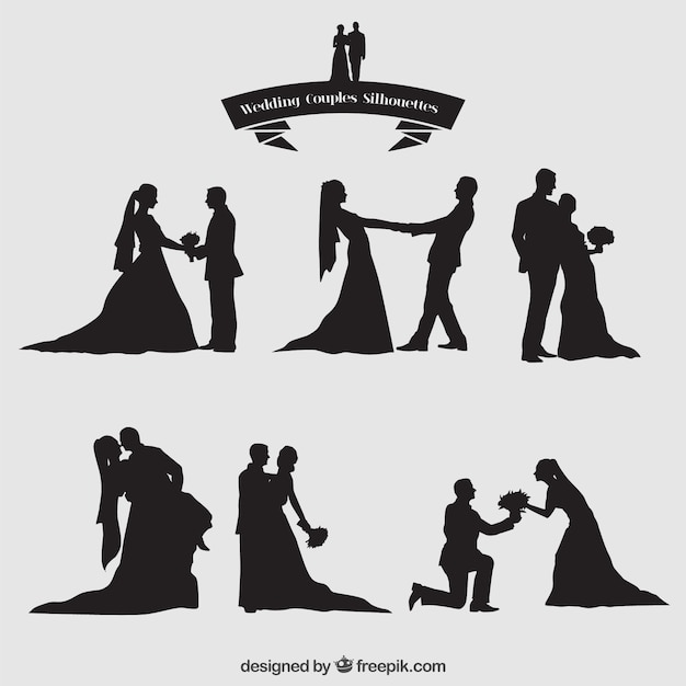 Free Wedding Couples Silhouettes Set Svg Dxf Eps Png 7 Creative Spring Svg Craft Ideas