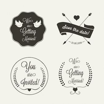 Wedding cute wedding badges