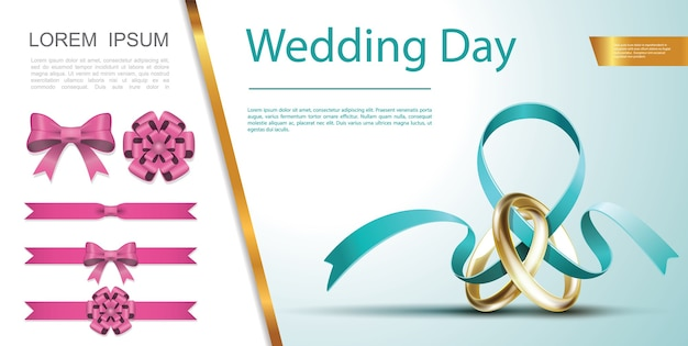 Wedding day festive decoration concept