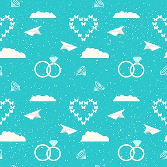 Wedding decor. bridal seamless pattern background for wedding card, invitation, wallpaper, album, scrapbook, holiday wrapping paper, textile fabric, garment, t-shirt etc