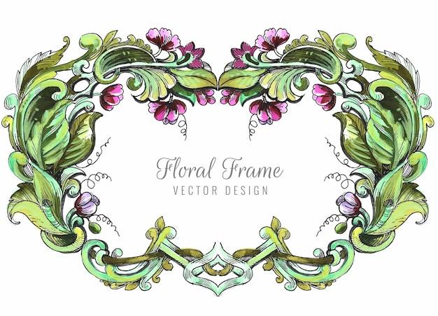Свадебная декоративная цветочная рамка фон