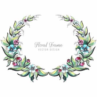 結婚式の装飾的な花のフレームの背景